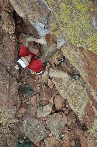 Rock Climbing Photo: Joe Mills on his Flash of Superfly.
