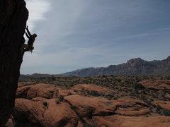 Rock Climbing Photo: Joe near the top of Tremor