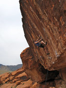 Rock Climbing Photo: me having a ball on Threadfin