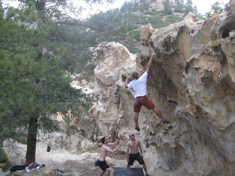 Rock Climbing Photo: Stick the Dyno and you completely understand the n...