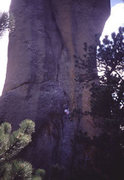 Rock Climbing Photo: The 5.9 route on the Sore Thumb