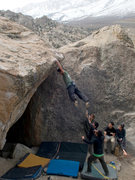 Rock Climbing Photo: Fly Boy Sit Start
