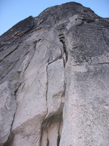 Rock Climbing Photo: first and second pitches of the NE Ridge