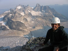Rock Climbing Photo: on the NE Ridge of Bugaboo Spire