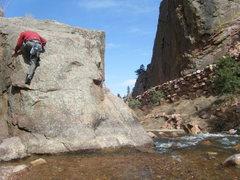 Rock Climbing Photo: The downclimb.