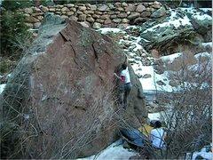 Rock Climbing Photo: Hitting the lip.