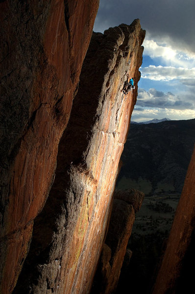 A legendary rock climb. <br> Keith Ladzinski photo.<br>