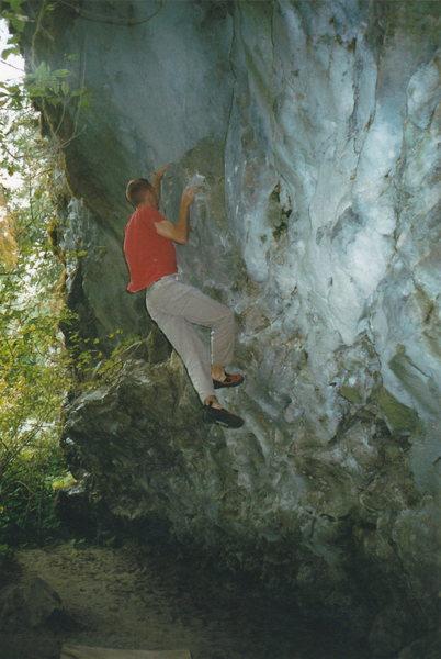 Rock Climbing Photo: Quinn hitting the peak