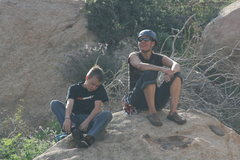 Rock Climbing Photo: Me & T.P. bouldering after a day of climbing @ Big...