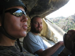 Rock Climbing Photo: Me & Nate catching a lunch break after some good c...