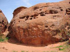 Rock Climbing Photo: Close-up of main traverse.