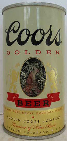 An early Coors can.