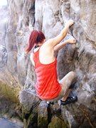 Rock Climbing Photo: Beach climbing at Pirate's Cove, Corona Del Mar