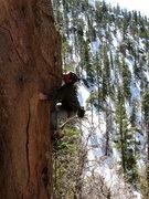 Rock Climbing Photo: David Bloom in Middle Solitude Canyon, AZ