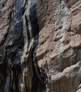 Rock Climbing Photo: Keith Beckley getting into it on Continental Drift...