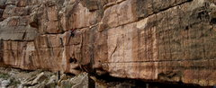 Rock Climbing Photo: Dawn on one of my unnamed lines at Chevelon Canyon...
