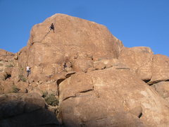 Rock Climbing Photo: Make a Joyful Noise (5.9+) on the left, and Everyb...