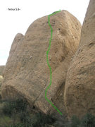 Rock Climbing Photo: Tethys 5.8+, 2 pitches, fully bolted. The crux is ...