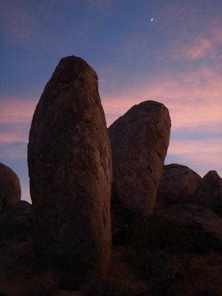 Rock Climbing Photo: Sunset at Wagonwheel.