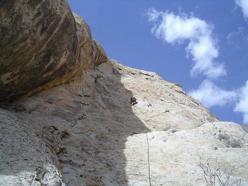 Paul on the 4th pitch . Photo Pat Moe