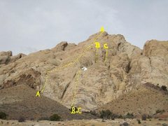 Rock Climbing Photo: A)Auguille Du Gieant.5.5.B).Dugana.5.8R. C. Tear i...