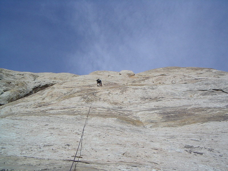 Rock Climbing Photo: First 5.3 pitch 200'