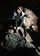 Rock Climbing Photo: Sam Owings, getting ready to climb Maynard G Krebs...