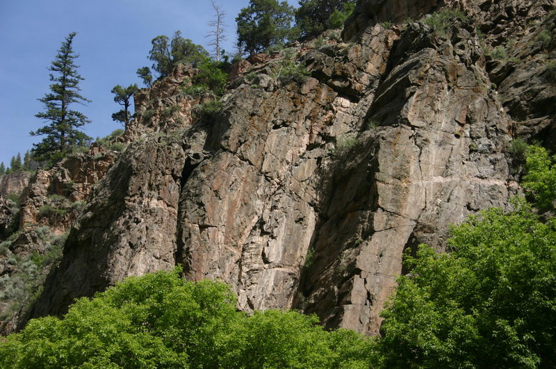 Rock Climbing Photo: The Bypass in Glenwood Canyon.