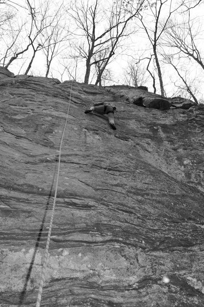 Rock Climbing Photo: Above the flake on Think Pink.