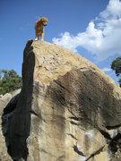 Rock Climbing Photo: Denali spraying beta for Self Service.