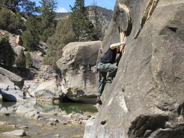 Rock Climbing Photo: Ian on the Road to Nowhere.  - Photo by Susan