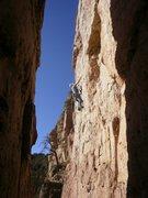 Rock Climbing Photo: 1st of many cruxes...