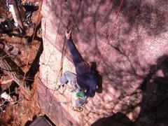 Rock Climbing Photo: Starting up the Blackboard. Photo: Rhoads
