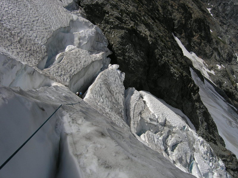 Ascending Entiat Icefall on Mt. Moude<br> (8/04)