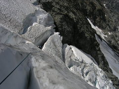 Rock Climbing Photo: Ascending Entiat Icefall on Mt. Moude (8/04)