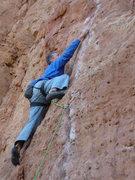 Rock Climbing Photo: At the first bolt.
