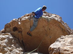 Rock Climbing Photo: Close up of the roof move.
