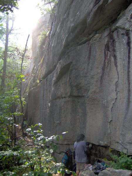 Rock Climbing Photo: This shows the starting flake, the real business i...