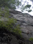 Rock Climbing Photo: A good view of the route. It's much cleaner now.