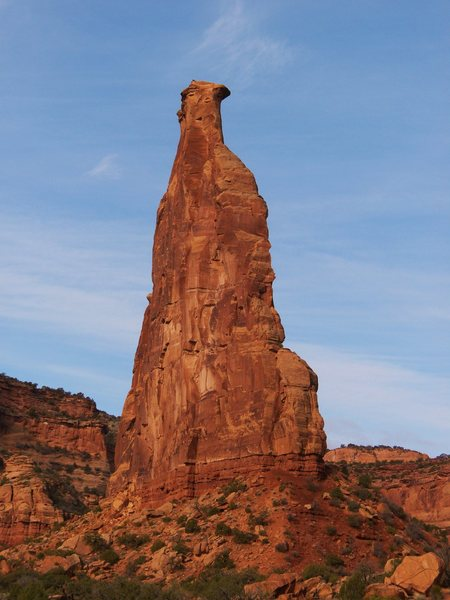 Rock Climbing Photo: Independence Monument from the trail in to Otto's ...