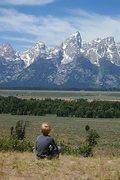Rock Climbing Photo: Boone pondering Tetons