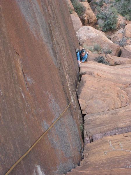 Rock Climbing Photo: P2 - splitter corner