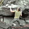 "Aaron Parlier on ""Down Tempo"" (V-5/6).Boneyard, Upper LBS, GHSP, Va."