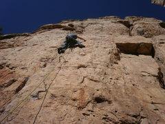 Rock Climbing Photo: Almost @ first anchor.