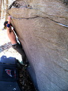 """Rock Climbing Photo: Steve Lovelace trying the start to the """"Midni..."""