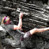 Travis Melin with getting another FA while bouldering in the Listening Rock Area, GHSP