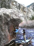 Rock Climbing Photo: Trying to get Resonated.