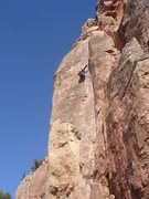 Rock Climbing Photo: T Bob leading Dihedrus.