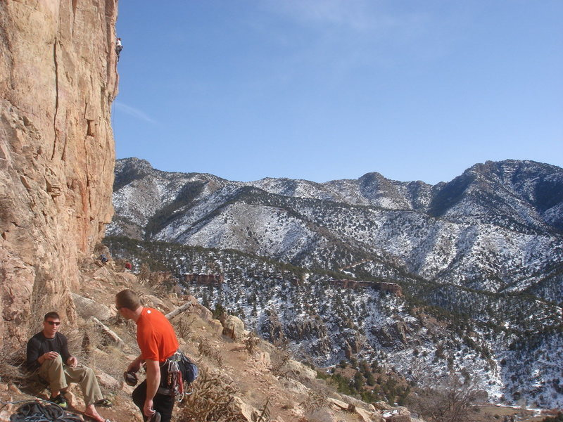 Rock Climbing Photo: Hangin' out on a beautiful Winter's day.