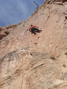 Rock Climbing Photo: High on The Stand, T Bob on lead.